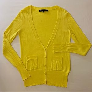 French Connection Yellow Cardigan